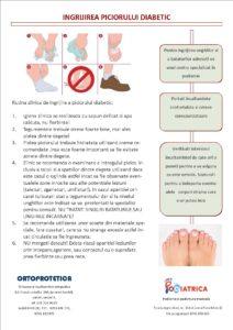 Reguli de ingrijire pentru piciorul diabetic